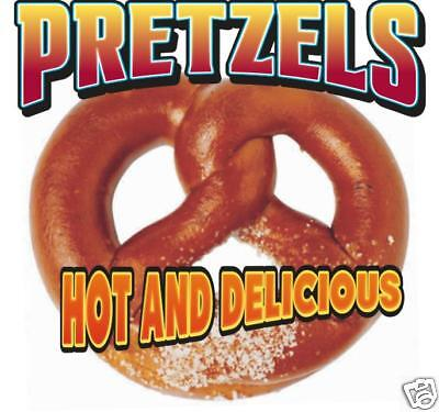 Pretzel Fast Food Concession Stand Vinyl Sign Decal 12