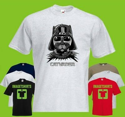 Cat Vader kid  PRINTED T-SHIRT  tee-shirt tshirt Art Animal starwars