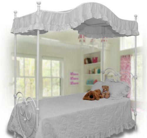 White Twin Canopy Bed Ebay