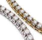 14k Yellow Gold Diamond Tennis Bracelets for Men