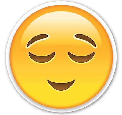 Gerahmt Emoji Druck - Glückliches Gesicht (Bild Plakat Emoticons Smile Telefon