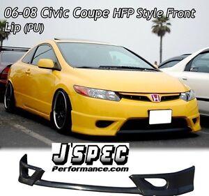 06 - 11 Honda Civic Coupe 2D HFP Full Lip Kit (Polyurethane)