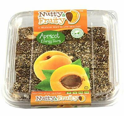 Nutty & Fruity Energy Bars, Your Choice of Fig, Apricot or Prune- Two 8 oz. Pack Apricot Snack Pack