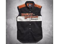 Men's Harley Davidson Prestige Blowout Sleeveless Shirt, LARGE, New With Tags