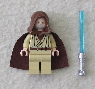 NEW LEGO STAR WARS OBI WAN KENOBI MINIFIG figure toy minifigure 10188 7965 (Lego Obi Wan Kenobi)