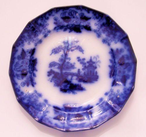 Flow blue plate ebay
