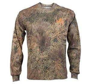 Mossy Oak Brush Men's Graphic Camo Long Sleeve Crew T-Shirt Size L