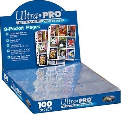 Ultra Pro Silver Series 200/9 Pocket Page Protectors, New, Free Shipping