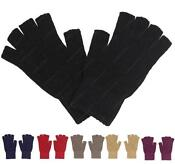 Womens Black Fingerless Gloves