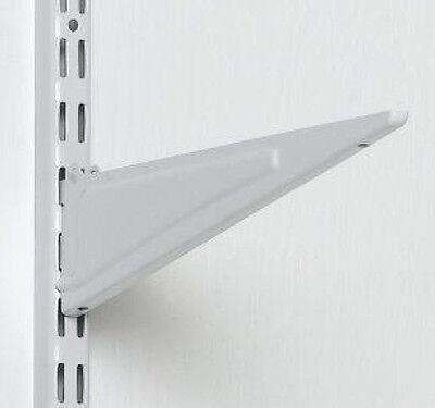 "BOX OF 12 - ClosetMaid 2854 ShelfTrack 16"" White Locking Shelf Bracket 826149x12"