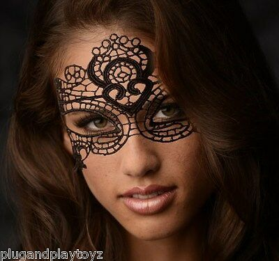 The Enchanted Black Lace Mask Costume Victorian Masquerade Ball Prom Halloween  - The Halloween Ball
