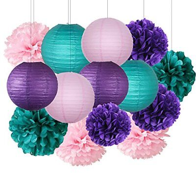 Under the Sea Party Decor/Purple Teal Pink Decorations Baby Shower (Under The Sea Baby Shower Decorations)