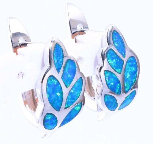 blue fire opal earrings ebay. Black Bedroom Furniture Sets. Home Design Ideas