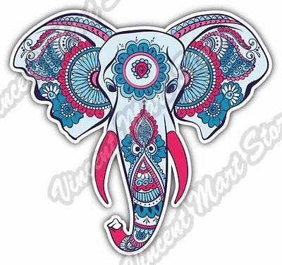 Elephant Flower Head Ganesha Gift Idea Car Bumper Vinyl Sticker Decal 4