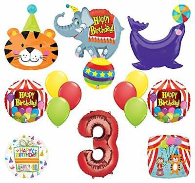 Mayflower Products Circus Theme Big Top 3rd Birthday Party Supplies and Balloon - Circus Theme Supplies