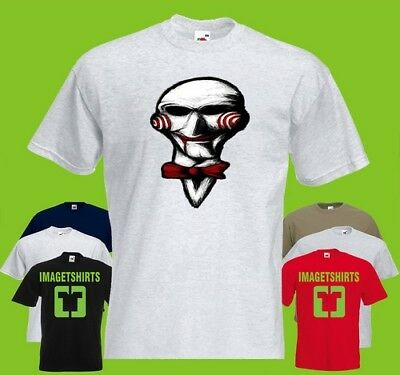 Lets Play A Game Lou Halloween saw Horror Art Graphic T Shirt Tee Shirt Print