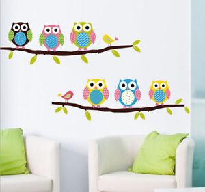 Lechuzo pegatina adhesivo vinilo para pared decorativo for Pegatinas habitacion infantil