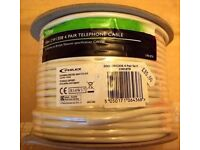50m 4 core 8 pair telephone wire. BT standard CW138. Tristar by Philex. New.
