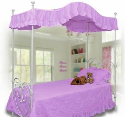 Purple Ruffled Canopy Top / Cover for Twin Size Bed NEW and SO CUTE! - Canopy Top Cover