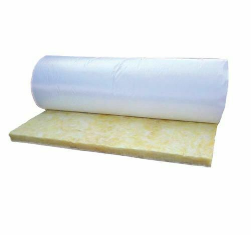 "Pole Barn Insulation R19 White Vinyl Firerated Rolls w/ 2"" tabs"
