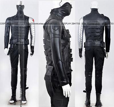 Captain America Winter Soldier Cosplay Costume Hallowen COS](Hallowen Usa)