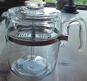 LARGE--9 CUP Pyrex Perculator - Complete-Vintage-Great Condition