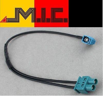 Radio Antennenadapter  FAKRA(Z) Buchse - Doppel FAKRA Stecker VW SKODA AUDI SEAT