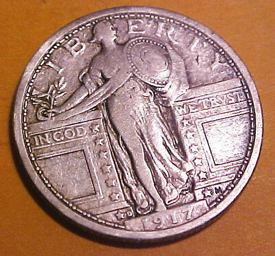 1917 D STANDING 25C  TYPE ONE  GEM CIRCULATED  FIRST YEAR ISSUE
