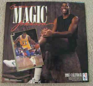 Magic Johnson Collectable 1993 Calendar, Basketball superstar