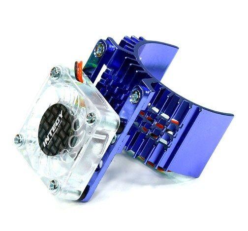 Integy Motor Heatsink Fan Blue For Traxxas Slash