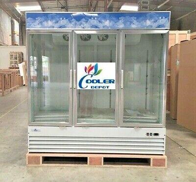 Three Glass Door Refrigerator Three 3 Door Cooler Depot Sg1.9l3 Nsf