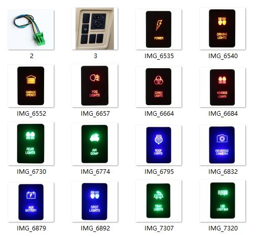 Car Push Button Switch for Toyota Hilux Prado RAV4 Landcruis