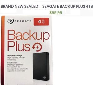 BRAND NEW SEALED  Seagate 4TB external hard drive for Mac and Wi