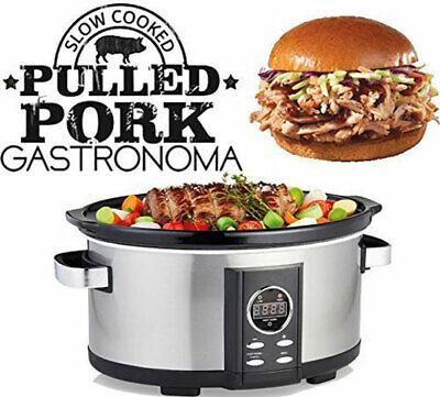 Digitaler Pulled Pork Slow-Cooker Schon-Garer Schmor-Topf Gartopf 6,5 Liter Schmortopf Slow Cooker