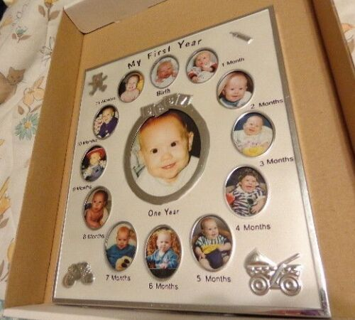 Baby's First Year Birth - One Year Monthly Picture Frame