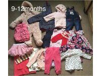 Girl's clothes bundle size 9-12months