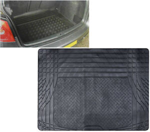HEAVY DUTY UNIVERSAL FIT RUBBER CAR BOOT TRUNK LINER MAT NON SLIP PROTECTOR NEW