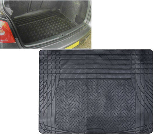 HEAVY DUTY UNIVERSAL FIT RUBBER CAR BOOT TRUNK LINER MAT NON SLIP PROTECTOR
