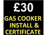 £30 Gas Cooker Installer & Plumber Engineer electric Corgi Safe Registered