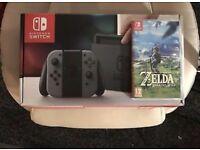 Nintendo Switch Grey + Zelda + Carrycase