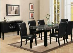 Super Easter SALE  !!! BRAND NEW FAUX MARBLE DINNING SET WITH 4 CHAIRS JUST FOR $449