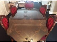 ITALIAN DINING TABLE WITH TEA TABLE