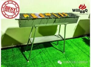 WillBBQ Stainless Steel Skewer BBQ Set,Special Offer