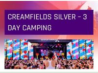 *SILVER* three day camping CREAMFIELDS tickets
