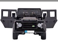 Landrover Defenders in Black, Parental Remote & Self Drive, 12v Brand New Boxed With Warranty