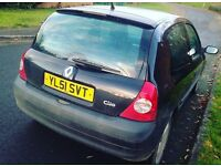 Clio diesel 10Month mot 30 pound road tax 1year lady owner