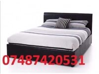 Double Leather Miami Bed With Mattress Included