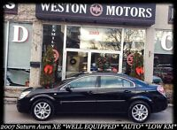 2007 Saturn Aura XE*AUTO*LOW KMS*100% APPROVED- FINANCE HERE!
