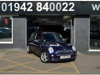 2005 05 MINI HATCH ONE 1.6 ONE 3D 89 BHP SPORTY HATCH, PURPLE. 101-000M , ALLOYS