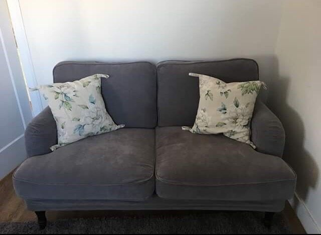 Ikea Stocksund Two Seater Sofa In Grey Fabric In